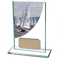 Colour Curve Sailing Jade Glass Award 125mm